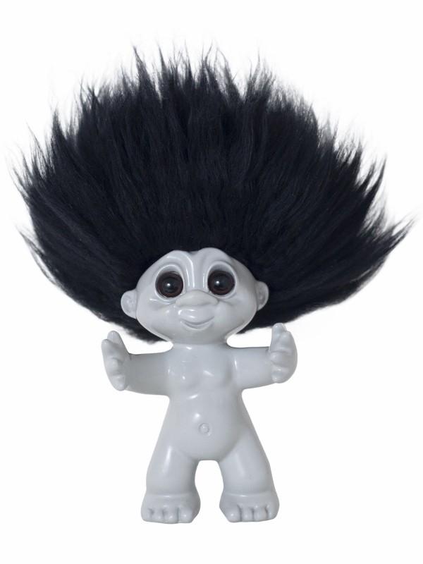 bySommer Lykketrold Lysegrå m. sort hår 9 cm-31