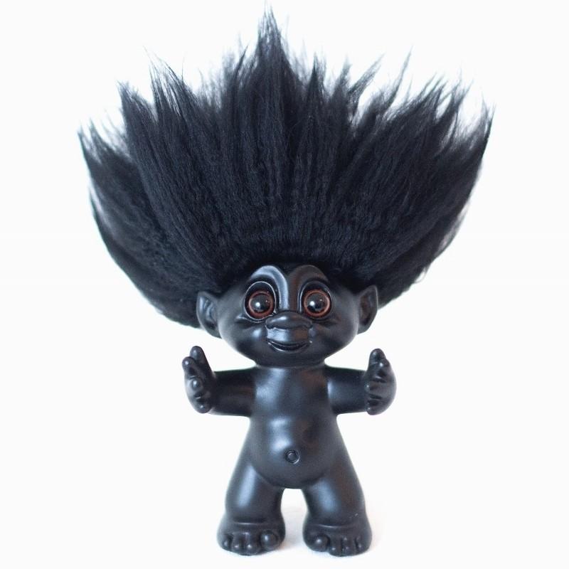bySommer Lykketrold Mat Sort m. sort hår 9 cm-31