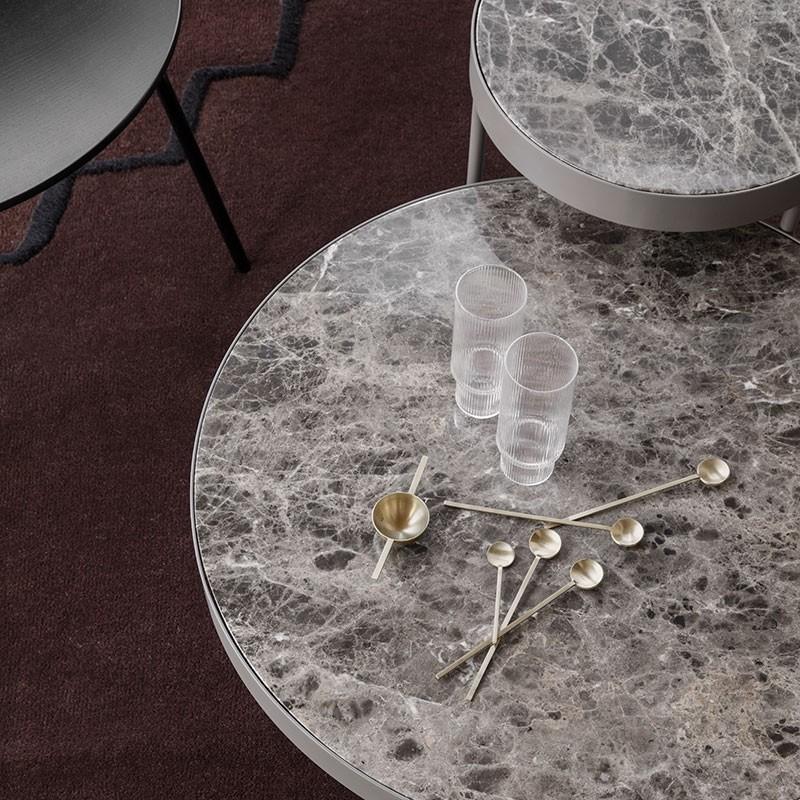 Ferm Living Marmor Sofabord Mellem Brun-31