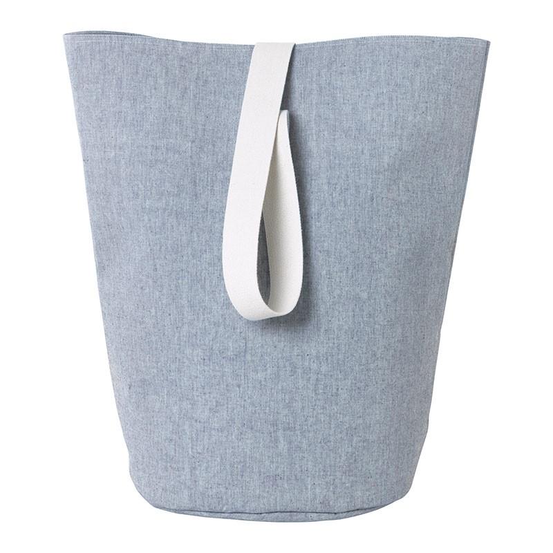 Ferm Living Vasketøjskurv Chambray Stor Blå-31