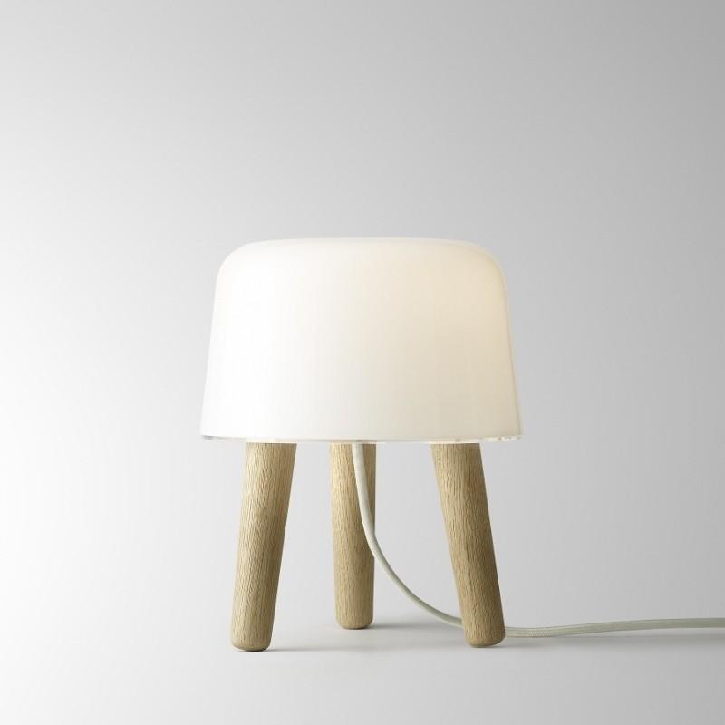 andtradition Milk Lampe Ask/Hvid Glas m. Hvid stofledning-31