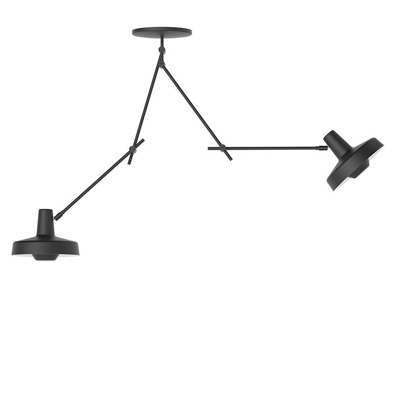 Lampefeber Arigato Dobbelt Loftlampe Sort-31