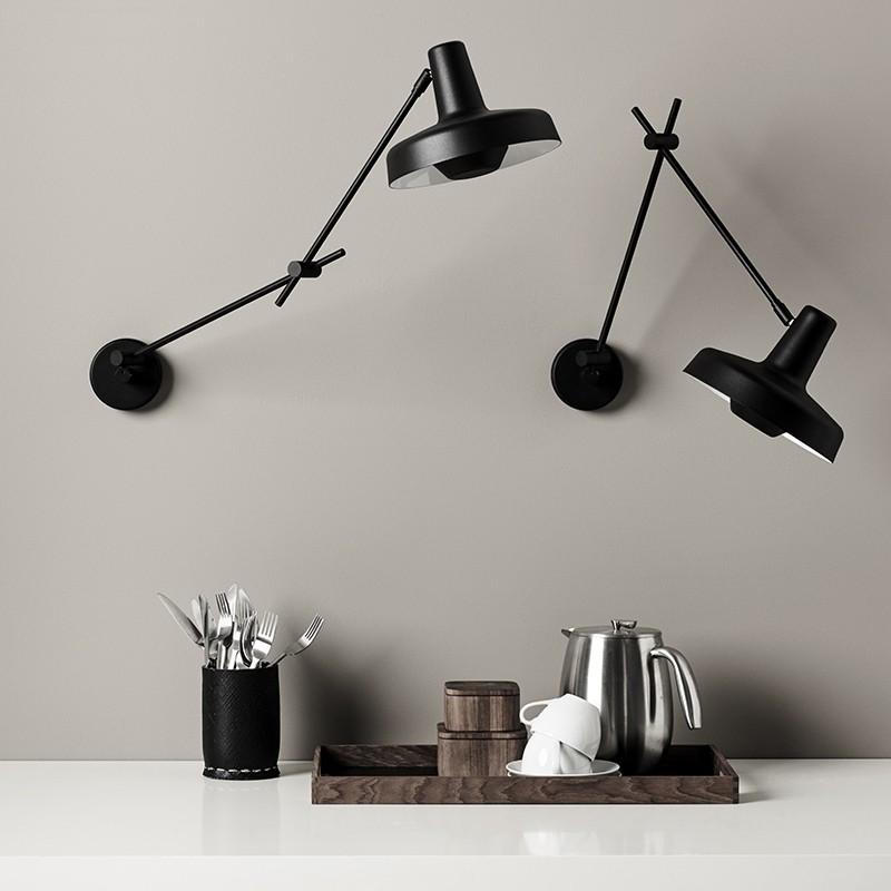 Lampefeber Arigato Væglampe Sort-31
