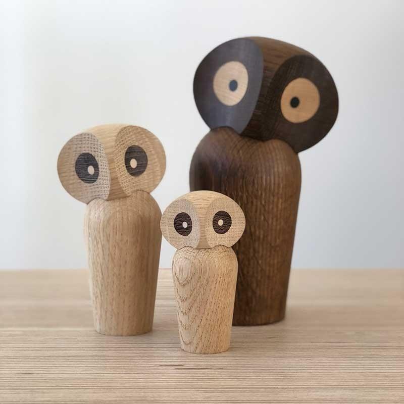 Architectmade Ugle The Owl Mini Røget Eg-31