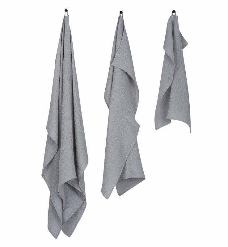 By Nord hørhåndklæde 65 x 100 cm Lysegrå-31