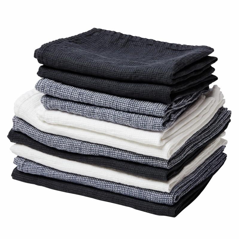 By Nord hørhåndklæde 130 x 100 cm Hvid-31