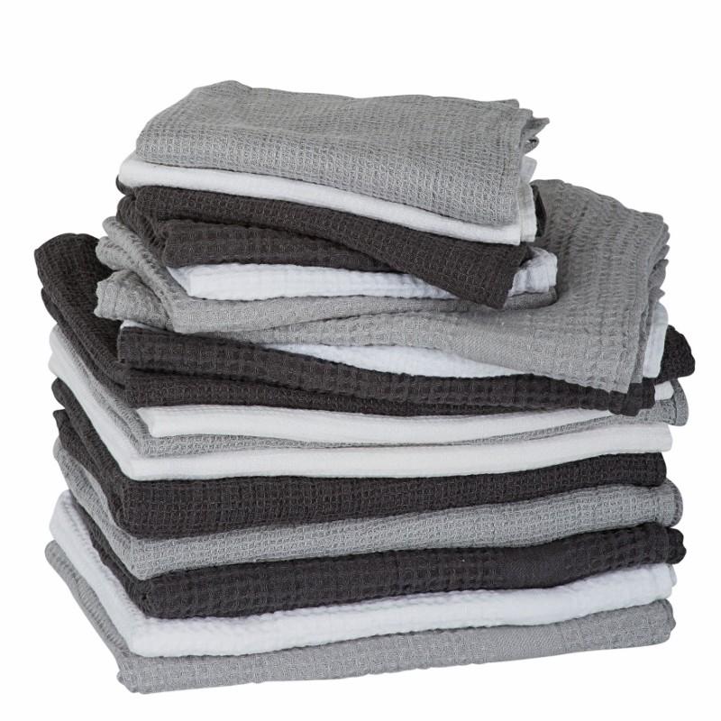 By Nord hørhåndklæde 130 x 100 cm Mørkegrå-31