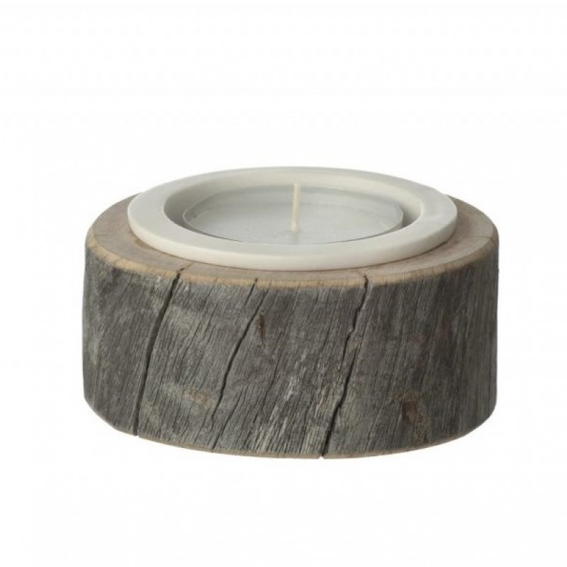 by Piippola Silver Pine Candle Holder Large-31