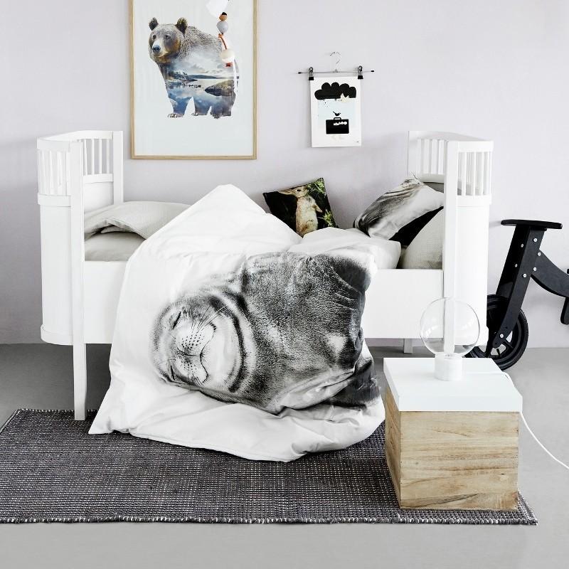 By Nord baby sengetøj m. Smilende Sæl 70 x 100 cm-31