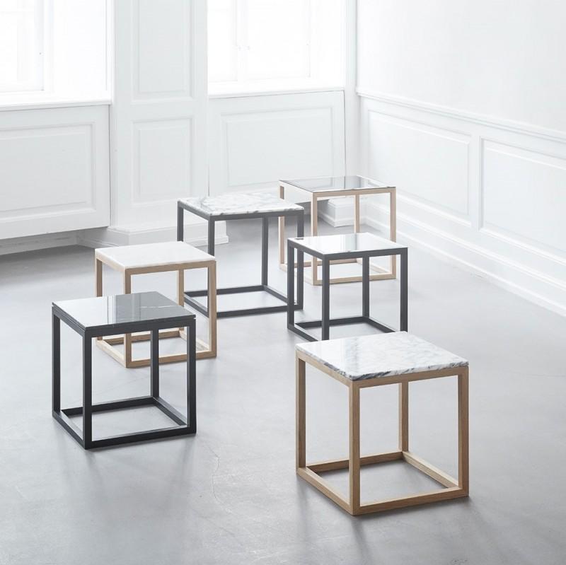 Kristina Dam The Cube Bord Medium Sort Marmor/Eg-31