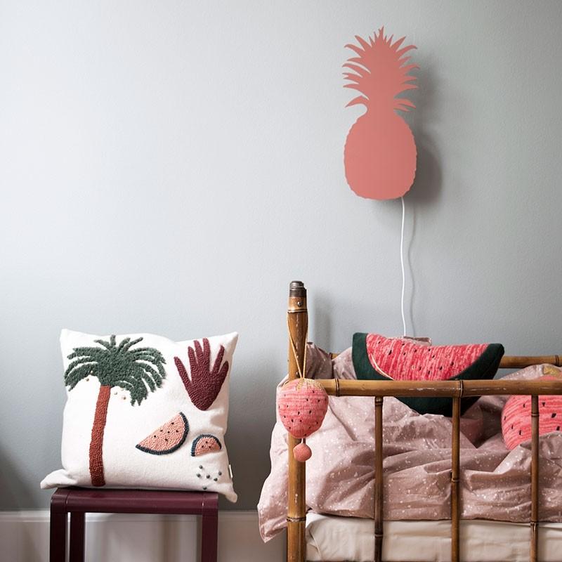 Ferm Living Børne Lampe Pineapple Orangerød-31
