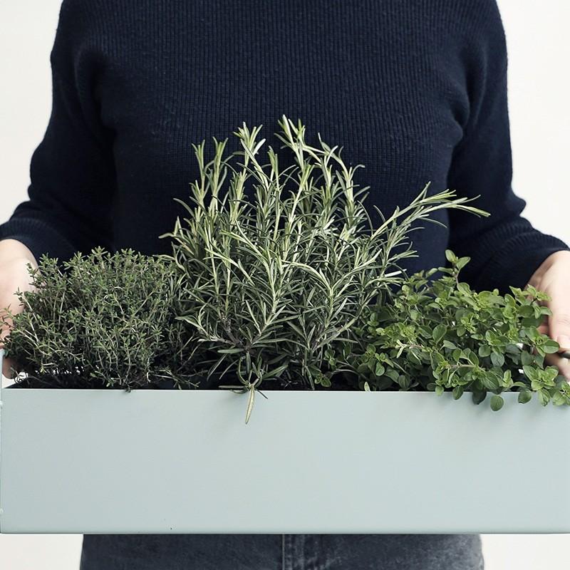 Ferm Living Plant Box Small Mørkegrå-31