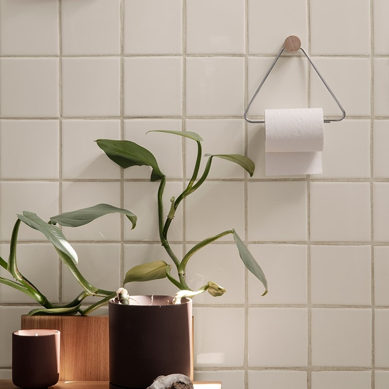 Ferm Living Toiletrulleholder Krom-31