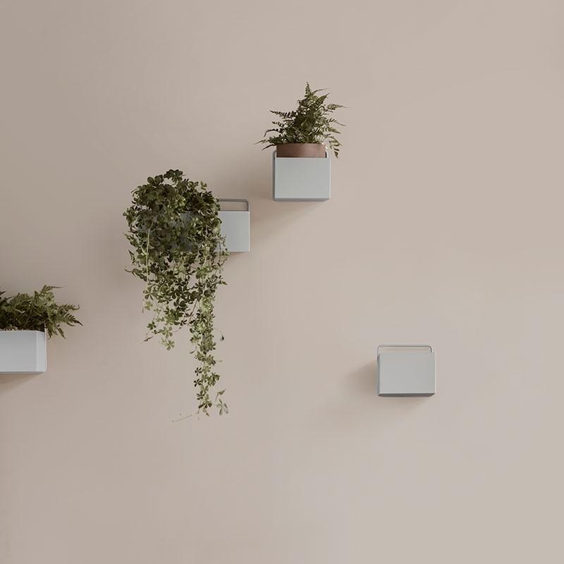 Ferm Living Wall Plant Box Firkantet Mørkegrøn-31