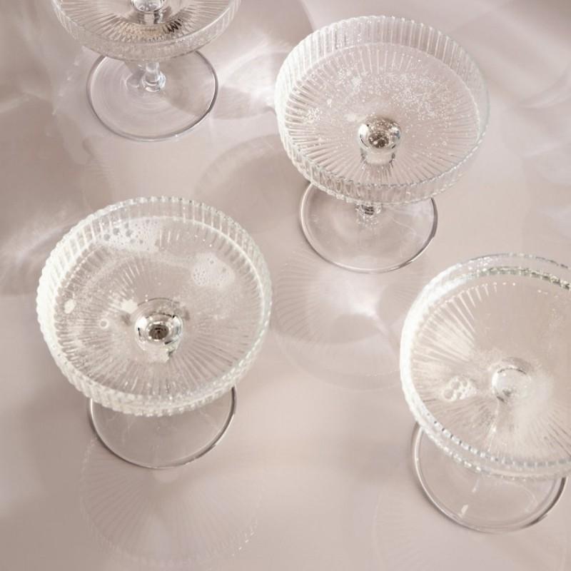 Ferm Living Ripple Champagneglas 2 stk-31