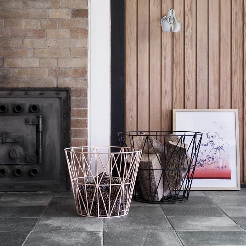 Ferm Living Wire Basket Medium Sort-31