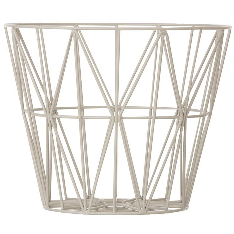 Ferm Living Wire Basket Large Grå-31