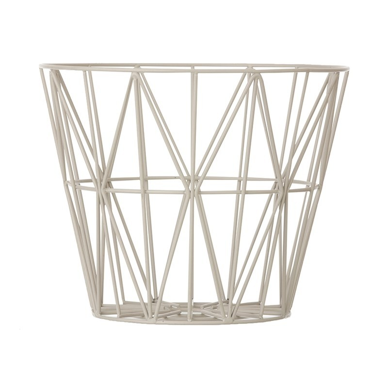 Ferm Living Wire Basket Medium Grå-31