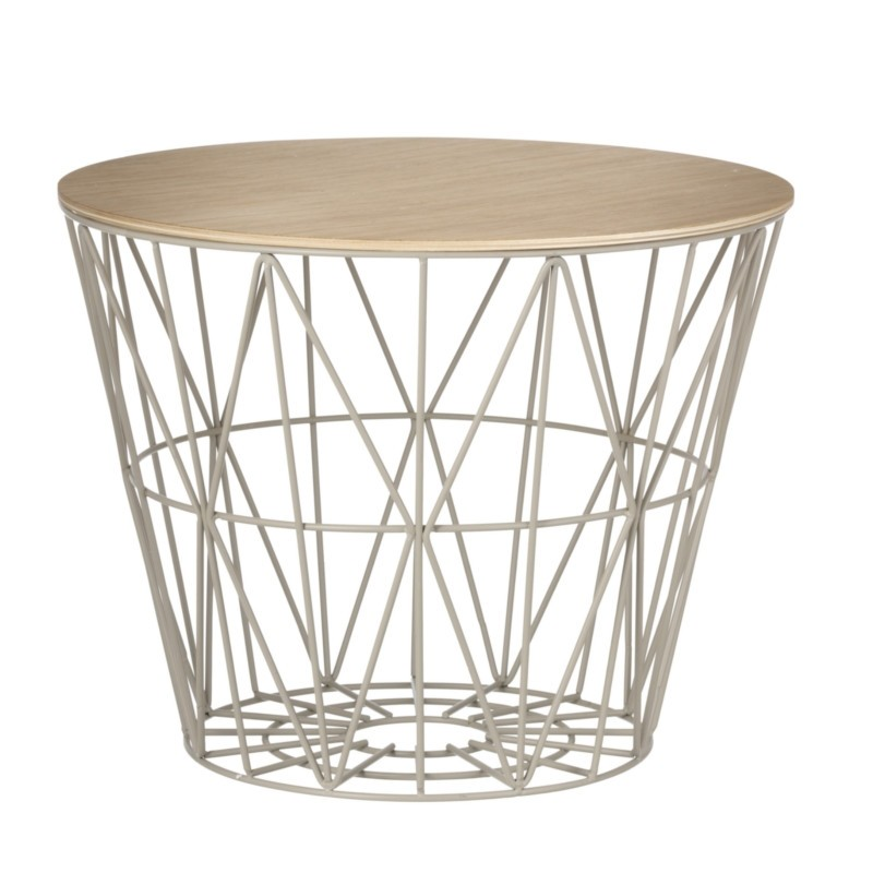 Ferm Living Wire Basket Top Medium Olieret Eg-31