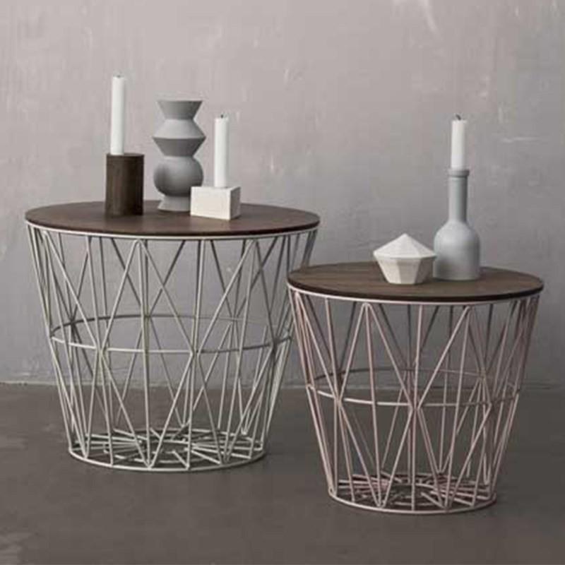 Ferm Living Wire Basket Top Medium Røget Eg-31