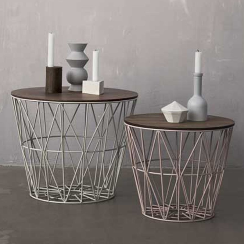 Ferm Living Wire Basket Top Small Røget Eg-31