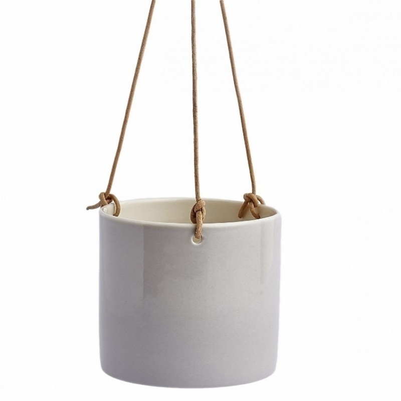 Anne Black Grow Hanging Urtepotte Small Concrete-31