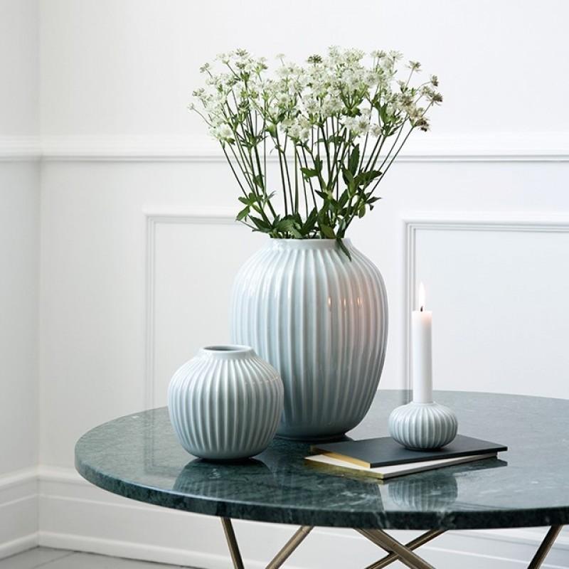 Kähler Hammershøi Vase H12,5 cm Mintgrøn-31