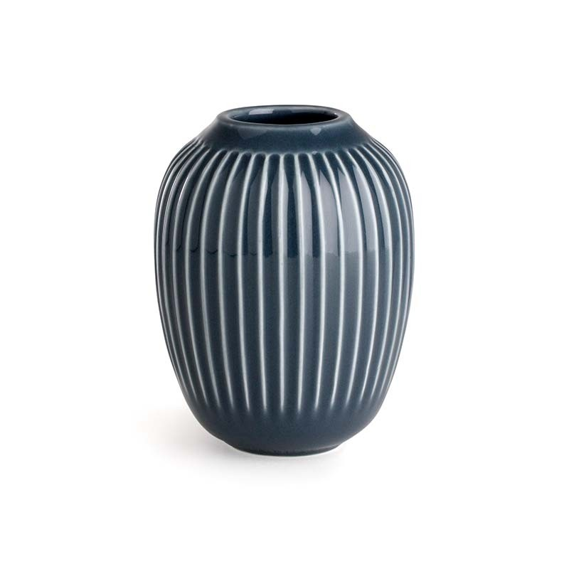 Kähler Hammershøi Vase H10 cm Antracitgrå-31