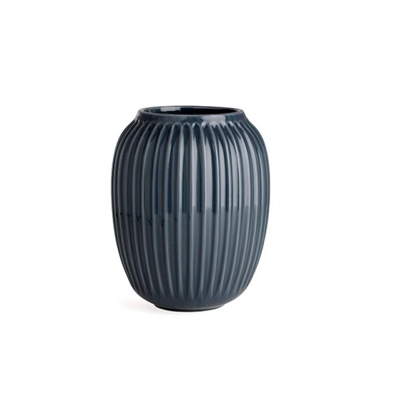 Kähler Hammershøi Vase H200 Antracitgrå-31