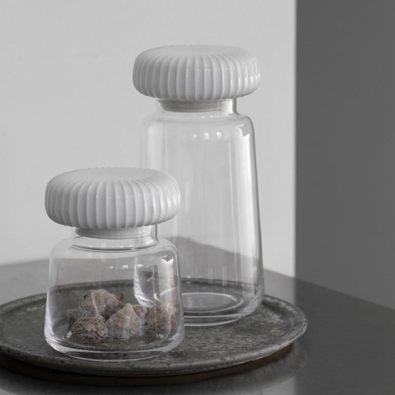 Kähler Hammershøi Opbevaringsglas H14 cm Marmorgrå-31