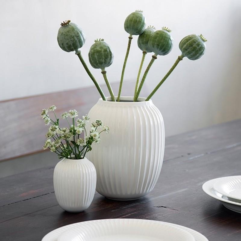 Kähler Hammershøi Vase H20 cm Hvid-31