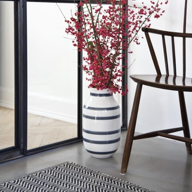 Kähler Omaggio Vase H305 Granitgrå-31