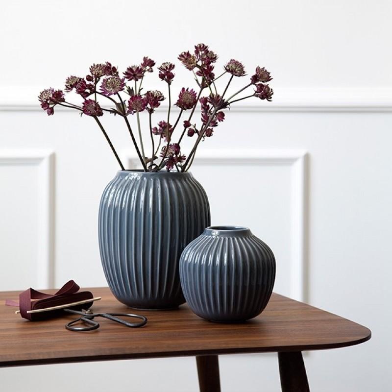 Kähler Hammershøi Vase H20 cm Antracitgrå-31