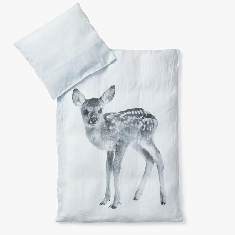 By Nord baby sengetøj i HØR m. Dådyrlam Lyseblå-31