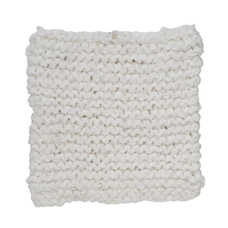 By Nord Grydelappe Knitted Off White-31