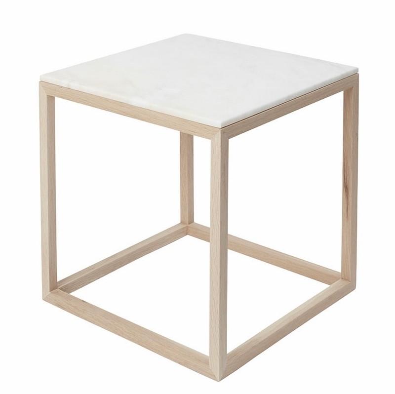 Kristina Dam The Cube Bord Medium Hvid Marmor/Eg-31