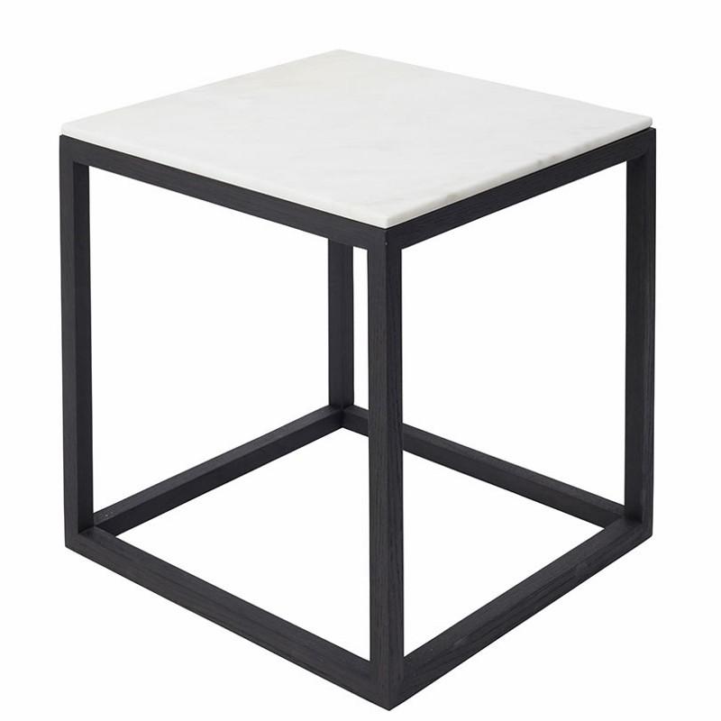 Kristina Dam The Cube Bord Medium Hvid Marmor/Sort Eg-31