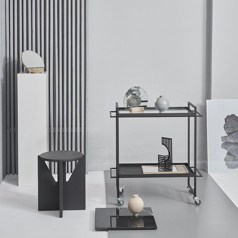 Kristina Dam Bauhaus Rullebord Sort-31