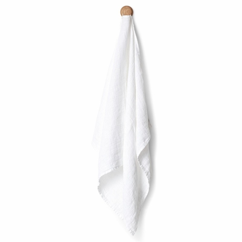 By Nord Hør håndklæde LIN Hvid 100x130 cm.-31