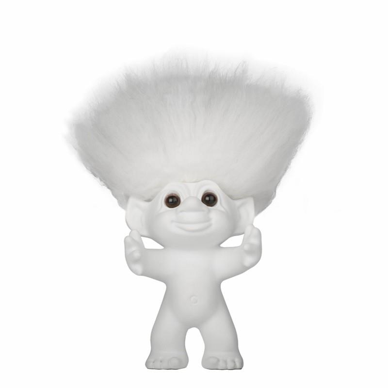 bySommer Lykketrold Mat hvid m. hvidt hår-12 cm.-31