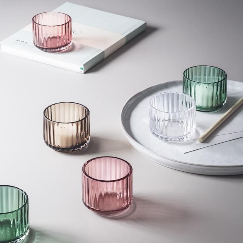 Lyngby Porcelæn Glas Fyrfadsstage Blå-31