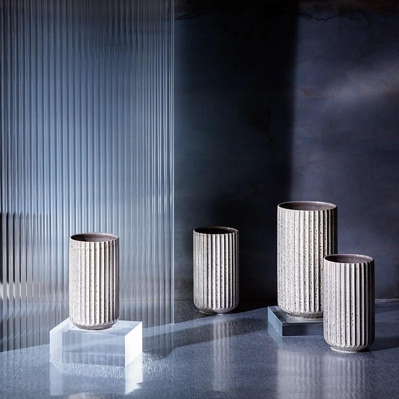 Lyngby Radiance Vase Fajance 20,5 cm Grå-31
