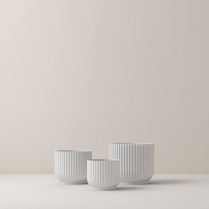 Lyngby Porcelæn Urtepotte Hvid Stor-31