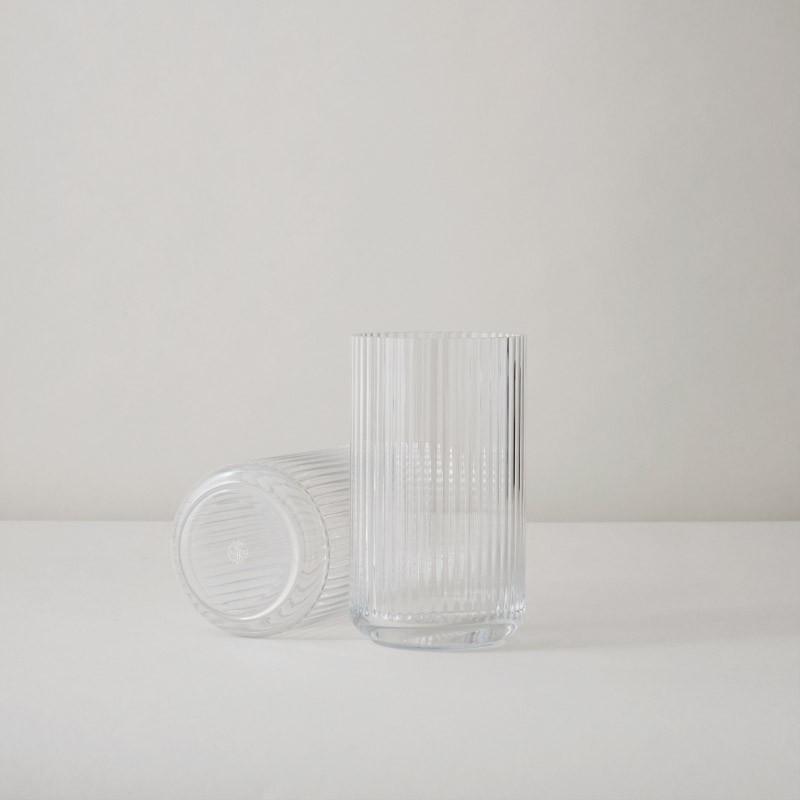 Lyngby Porcelæn Glas Vase Klar 15 cm-31