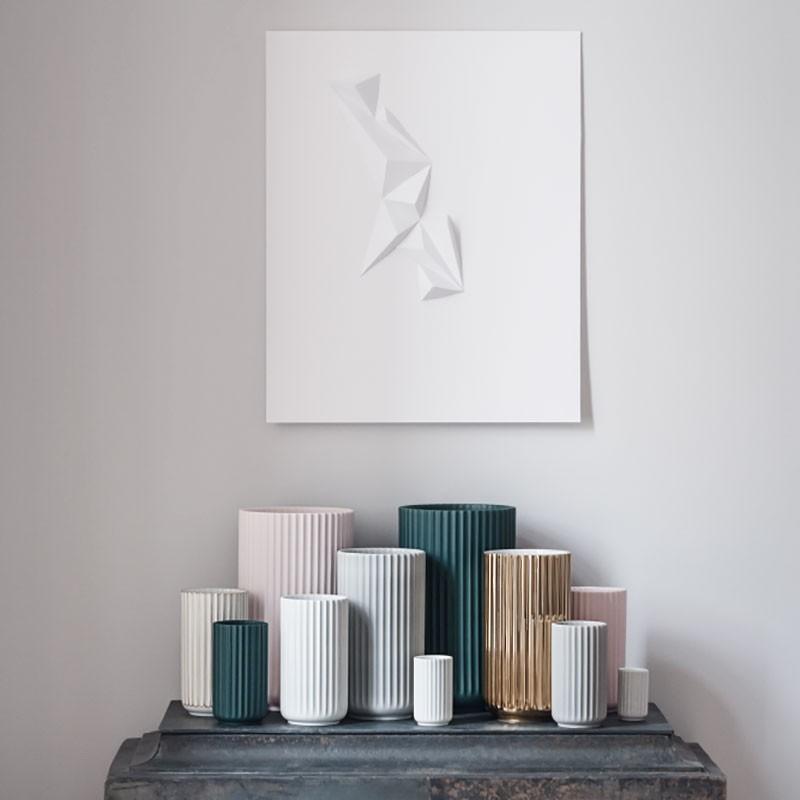 Lyngby Porcelæn Vase Mat Hvid 20 cm-31