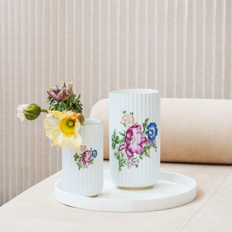 Lyngby Porcelæn Vase Blomster 15 cm-31
