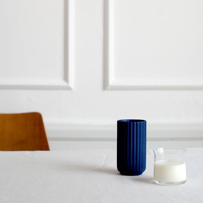 Lyngby Porcelæn Vase Mørkeblå 12 cm-31