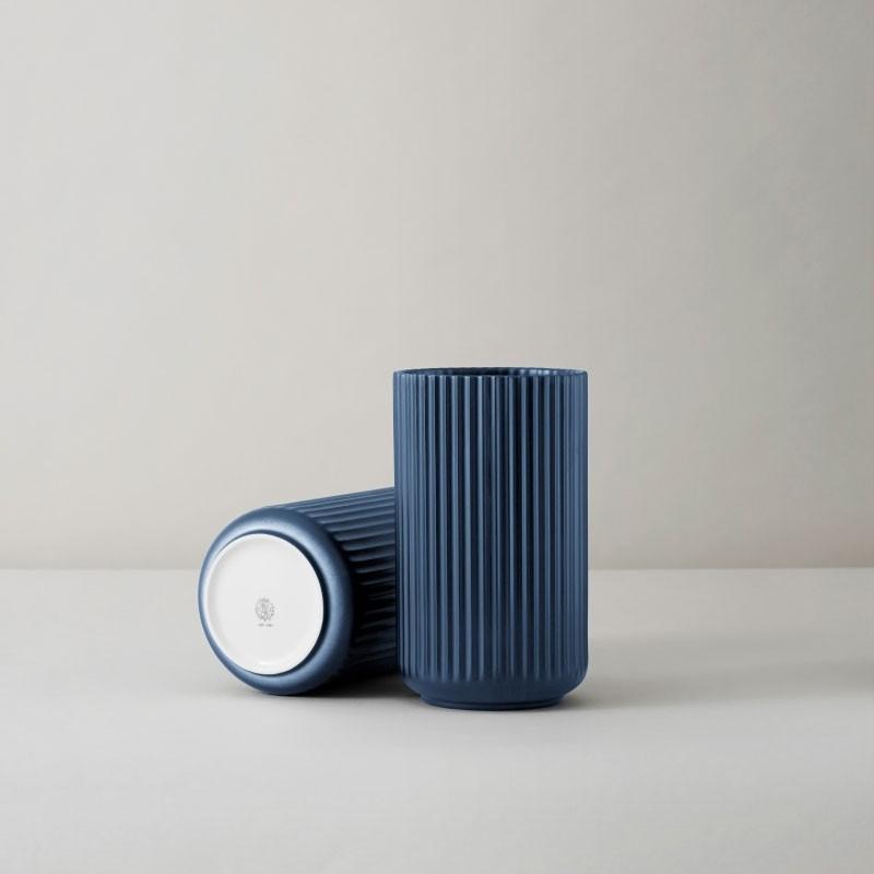 Lyngby Porcelæn Vase Mørkeblå 15 cm-31