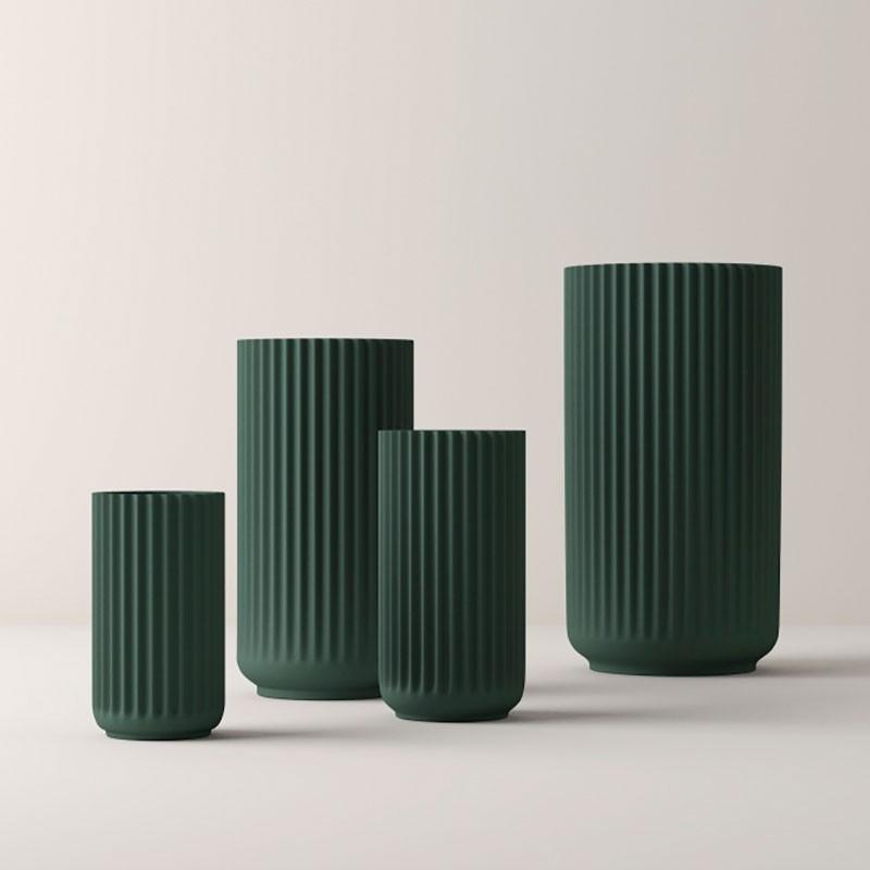 Lyngby Porcelæn Vase Grøn 20 cm-31