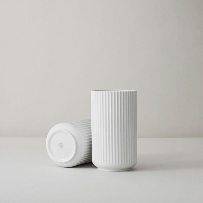Lyngby Porcelæn Vase Hvid 20 cm-31
